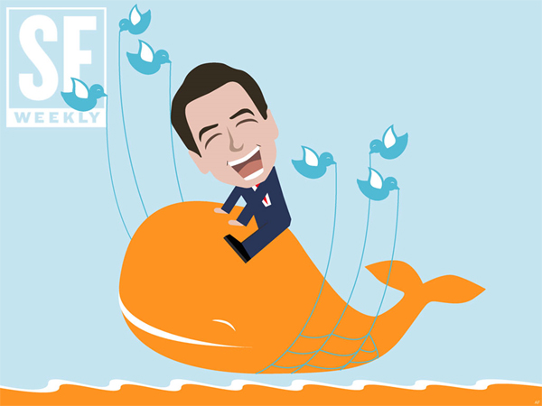 Gavin Newsom Fail Whale on SF Weekly